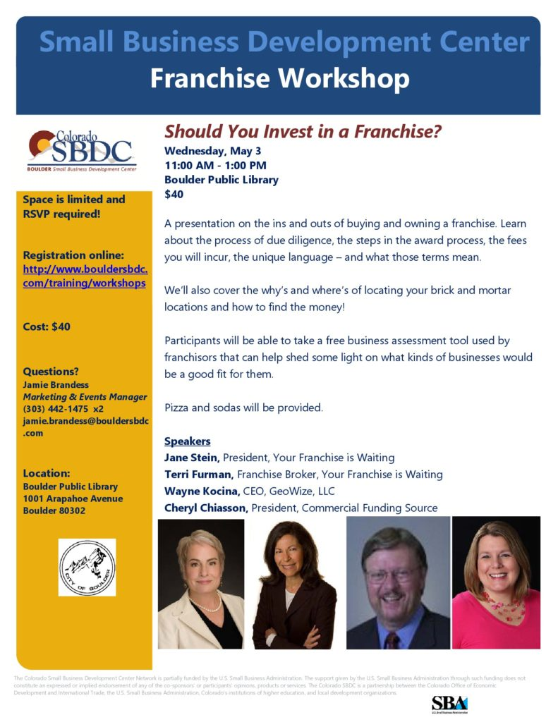May 3 SBDC Event
