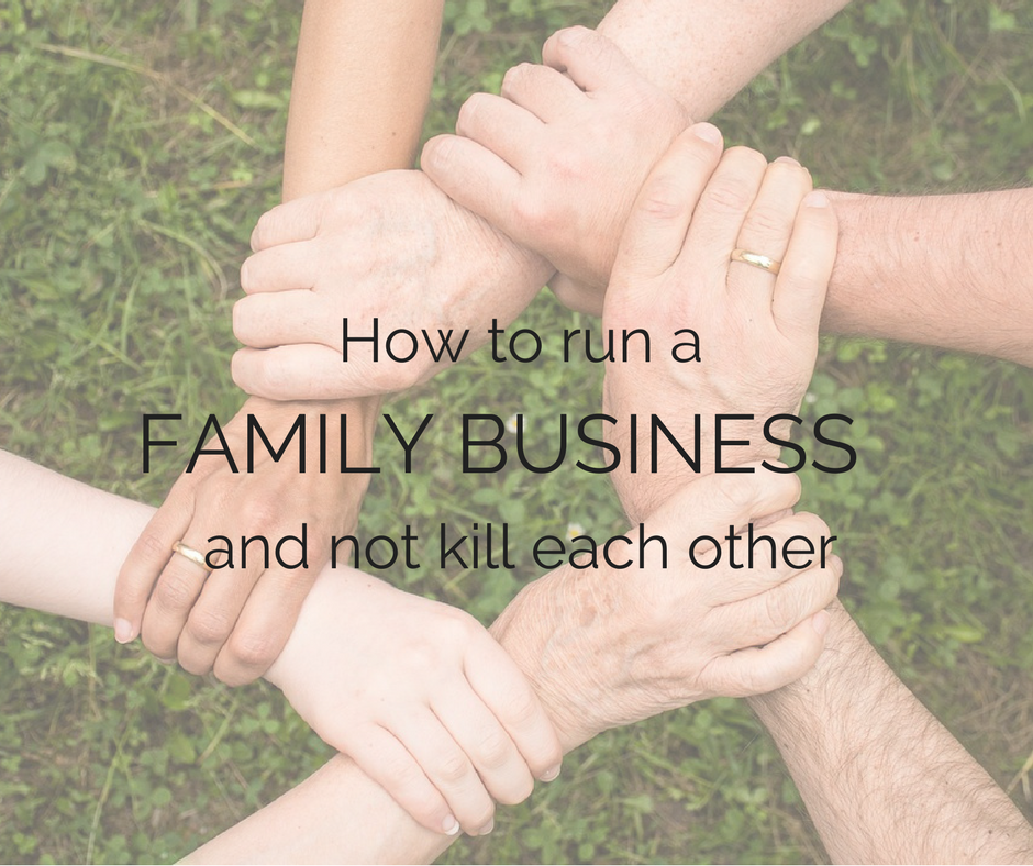 How to run a family business and not kill each other - yfiw